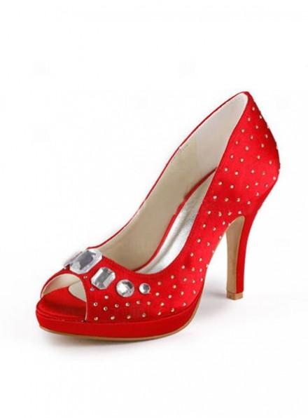 scarpe da Sposa economiche Online con Strass Argento
